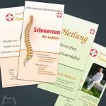 Flyer für Praxis SonnenTor alternative Heilverfahren